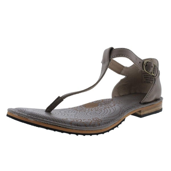 Bogs Womens Memphis Thong Sandals Leather T-Strap