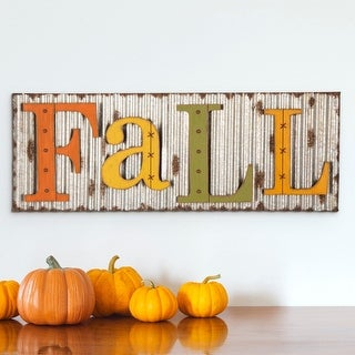 Link to Glitzhome Fall Metal Sign Hanging Decor Similar Items in Canvas Art