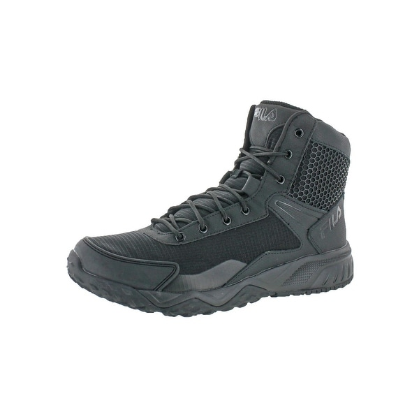 Shop Fila Mens Chastizer Tactical Boots Leather Side Zipper - Free ... 204037bb5c
