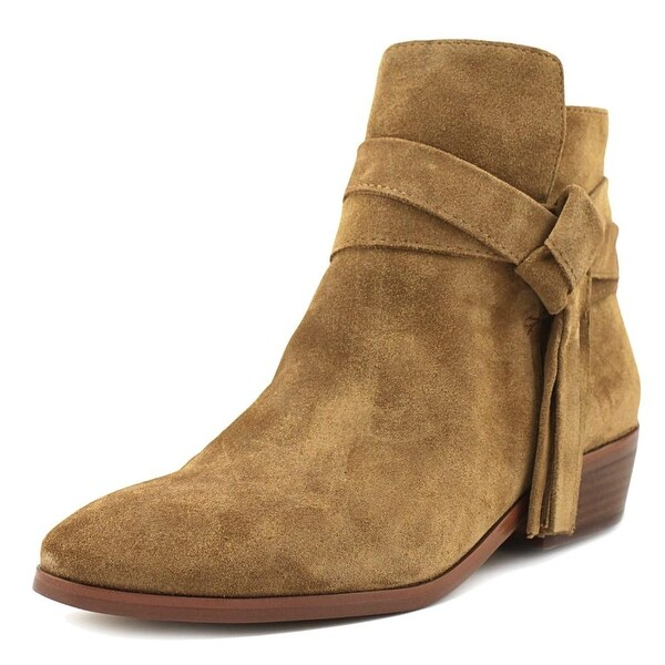 Guess Camrin Women Round Toe Suede Tan Ankle Boot