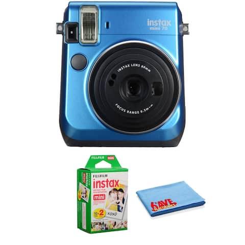 FUJIFILM INSTAX Mini 70 Instant Film Camera Island Blue Kit +Instant