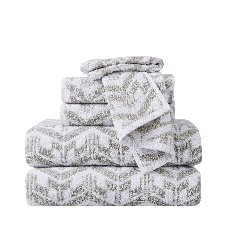 Sean John Herringbone Jacquard 6 Piece Towel Set Towel Set On Sale Overstock 31226483