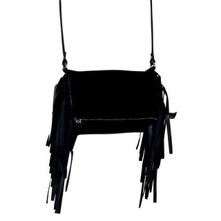 Scully Western Handbag Womens Small Cross Body Fringe Flap Black B83 - One size