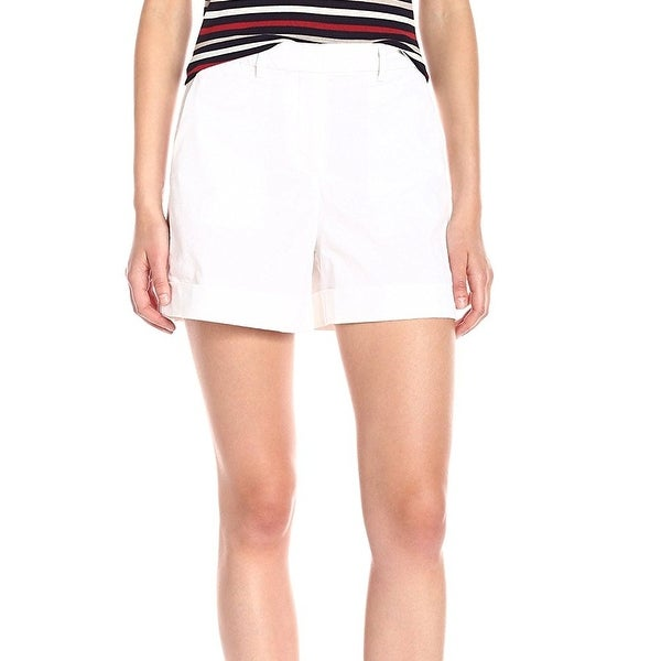 ba7cc79669 Shop Theory NEW Solid White Women's Size 2 Wehnday Chino Cuffed Shorts -  Free Shipping Today - Overstock - 20635227