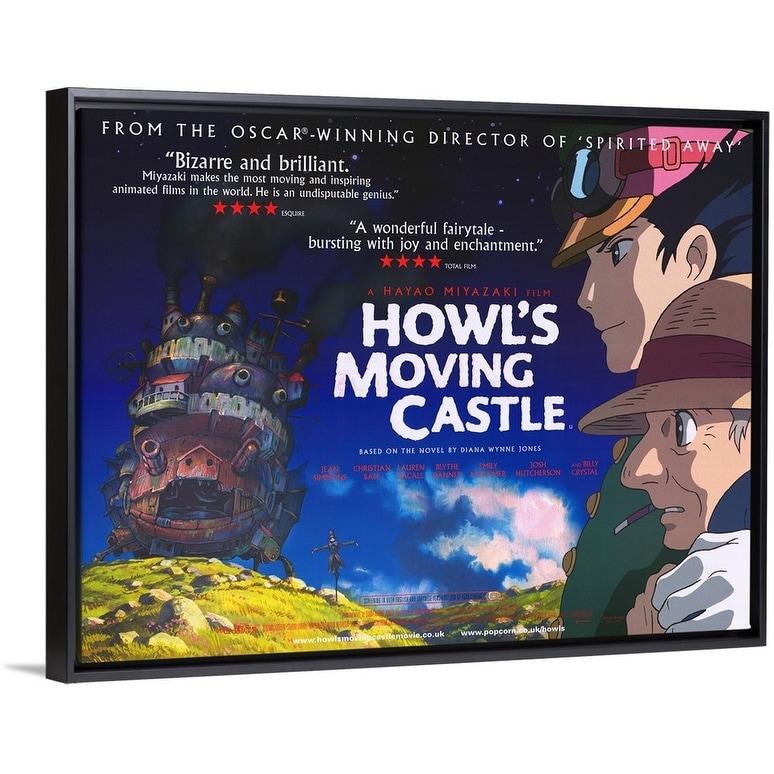 Shop Black Friday Deals On Howl S Moving Castle 2004 Black Float Frame Canvas Art Overstock 26974180
