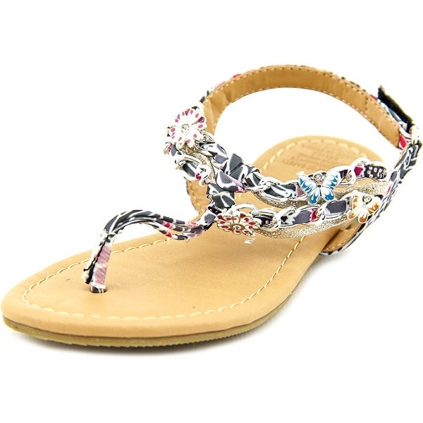 Sarah Jayne Shore Open-Toe Canvas Slingback Sandal