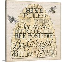 Deb Strain Premium Thick-Wrap Canvas entitled Hive Rules - Multi-color