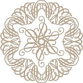 Spellbinders Glimmer Impression Plate-Elegant Circle