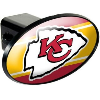 Great American Products Kansas City Chiefs Oval Trailer Hitch Cover Oval Trailer Hitch Cover
