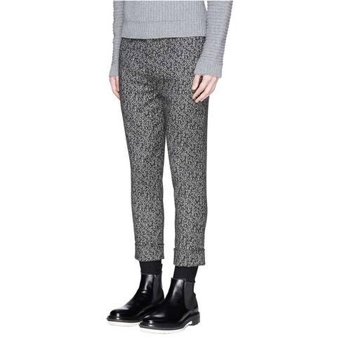 Neil Barrett Mens Skinny Fit Flat Front Pants 30 Black Grey Trousers