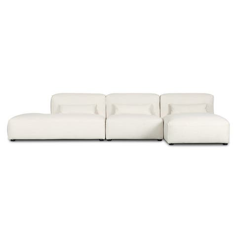 Poly and Bark Infina Armless Modular 3 Piece Sofa