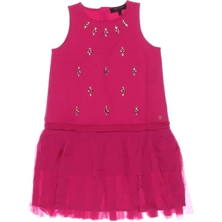 Juicy Couture Black Label Girls Fringe Party Dress - 8