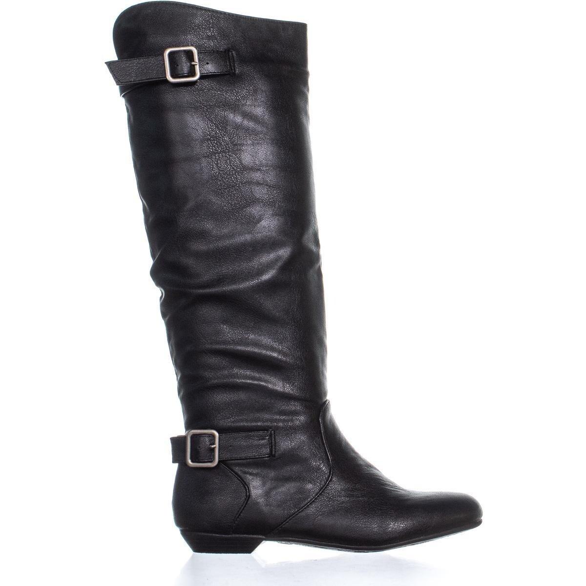 Shot Flat Riding Mid Calf Boots