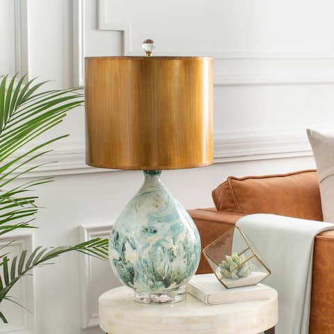 """Aubrey 25 in. Gold Transitional Table Lamp - 25"""" H"""