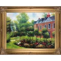 Pierre-Auguste Renoir 'The Rose Garden at Wargemont' Hand Painted Oil Reproduction