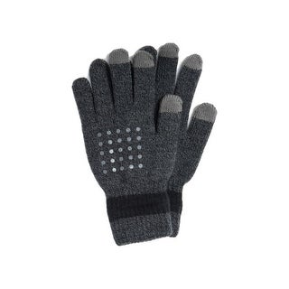 Muk Luks Gloves Womens Grip Dot Palm Elastic Wrist O/S - One size