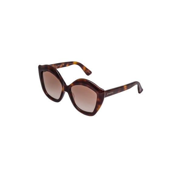 680879cbf00 Shop Gucci Gg 0117 S- 002 Avana   Brown Sunglasses - HAVANA-HAVANA-BROWN -  One Size - Free Shipping Today - Overstock - 24266445