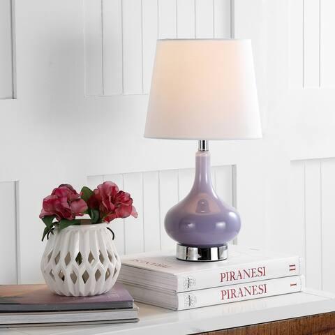 SAFAVIEH Kids Lighting 18-inch Amy Purple Mini Gourd Table Lamp