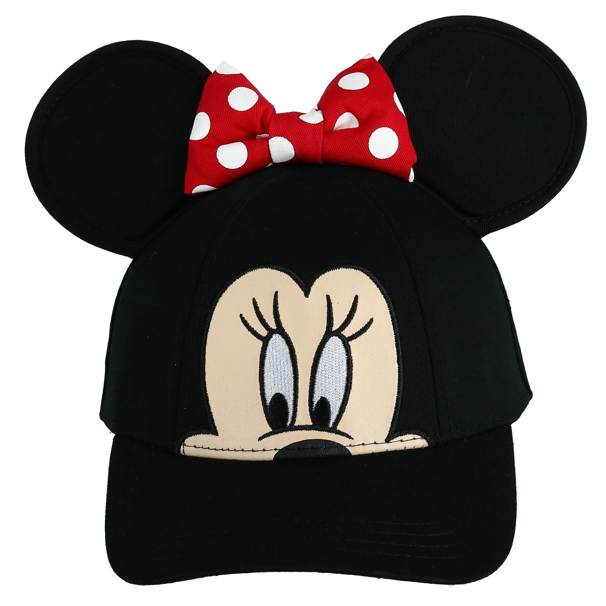 Disney/'s Minnie Mouse Toddler Girl 3D Bow /& Ears Baseball Cap Hat