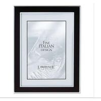 Silver and Black 8x10 Metal Picture Frame
