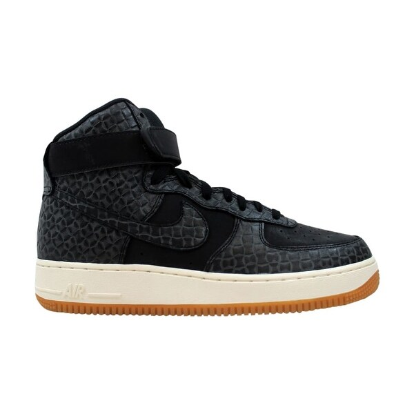 san francisco d0c06 60a8d Nike Air Force 1 Hi Premium Black Black-Gum Medium Brown-Sail 654440
