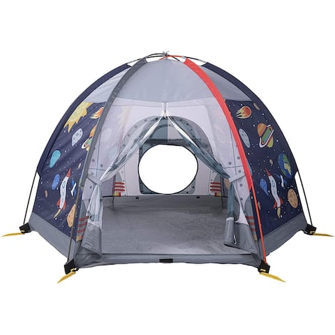 UTEX Dome Tent Playhouse, Kids Play Tent for Indoor or Outdoor Fun,Camping Tent for Boys and Girls (Space Module)