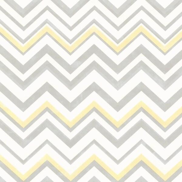Brewster HAS47294 Susie Grey Chevron Wallpaper - Grey Chevron - N/A