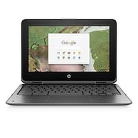 HP Chromebook x360 11-inch Convertible Laptop 4GB RAM, 32GB (11-ae020nr, Gray)