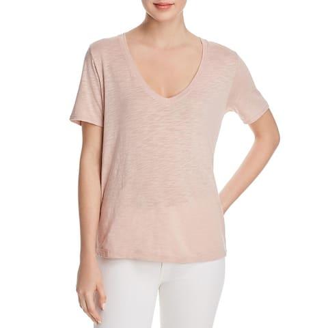 Splendid Womens T-Shirt Slub V-Neck