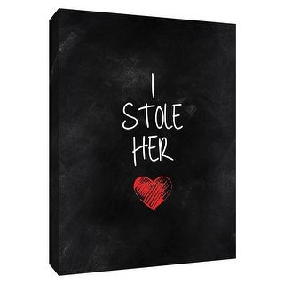 """PTM Images 9-148562  PTM Canvas Collection 10"""" x 8"""" - """"Stolen Heart I"""" Giclee Sayings & Quotes Art Print on Canvas"""