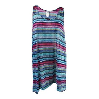 Profile by Gottex Women's Plus Size Cozumel Printed Cover-Up - multi