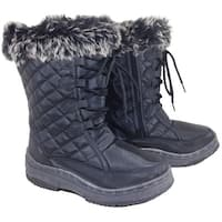 Anna Almeida Sunrise04 Women Winter Cold Weather Snowboots Lace Up Zipper - sunrise black