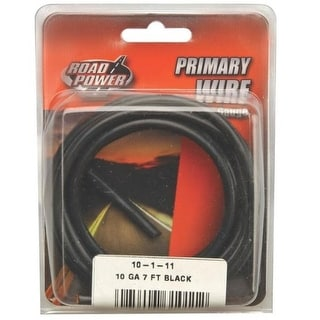 Coleman Cable 55671833 Road Power Primary Wire, 10 Gauge, 7', Black