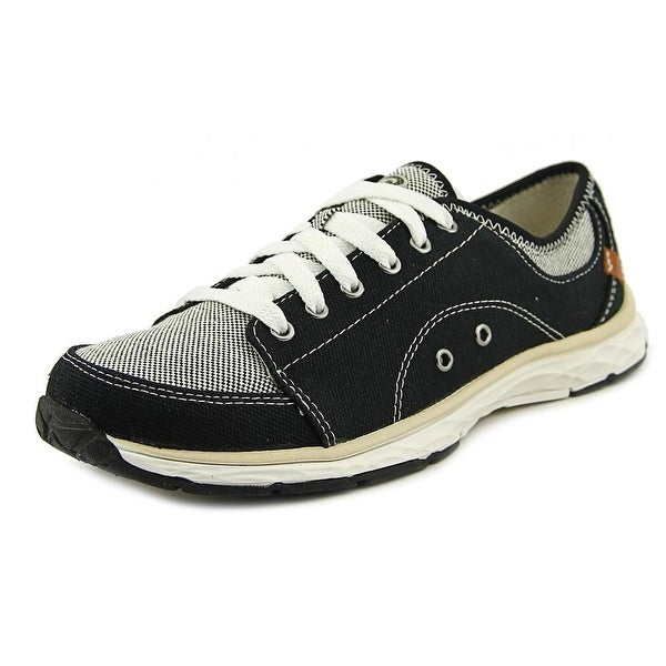 Dr. Scholl's Anna Women Round Toe Canvas Black Sneakers
