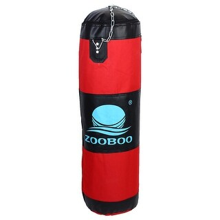 ZOOBOO Authorized Boxing Exercise Heavy Punching Training Bag Red 90cm Height