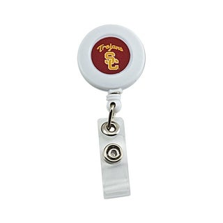 USC Trojans Retractable Badge Reel Id Ticket Clip NCAA