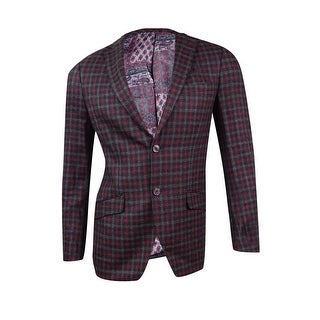 Tallia Men's Slim-Fit Plaid Wool Sport Coat (36R, Charcoal/Grey) - Charcoal/Grey - 36r