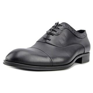 Roberto Cavalli Benny Men Round Toe Leather Black Oxford