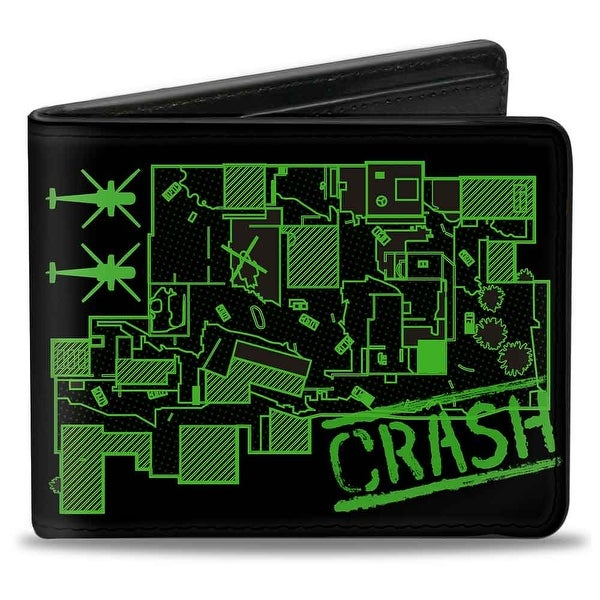 Call Of Duty Modern Warfare Crash Map Black Green White Bi Fold Wallet - One Size Fits most