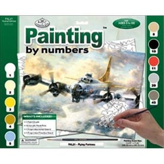 422121 Adult Paint By Number Kit 15.38 in. x 11.25 in. -Flying
