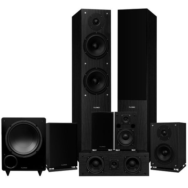 Fluance Elite Series Surround Sound Home Theater 7.1 Channel System - Black Ash (SX71BR)
