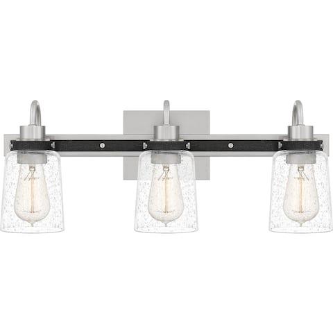 Axel 3-Light Brushed Nickel Vanity Light - Brushed Nickel