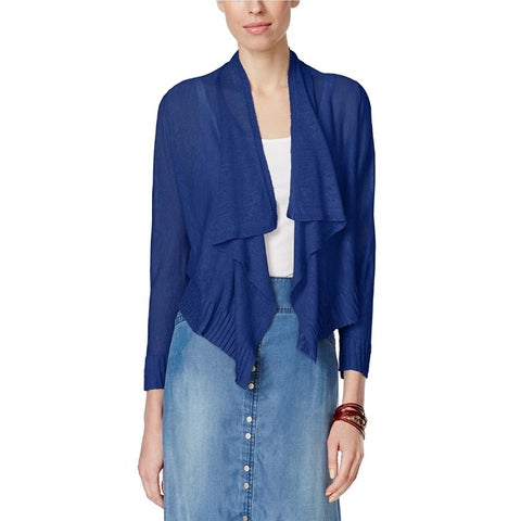 Inc International Concepts Petite Three-Quarter-Sleeve WA Goddess Blue PM