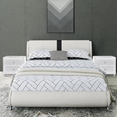 Carlton Platform Bed with 2 Nightstands