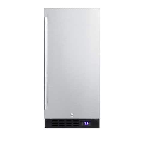 "Summit SCFF1533B 15"" Wide 2.45 Cu. Ft. Freezer with Temperature Alarm"
