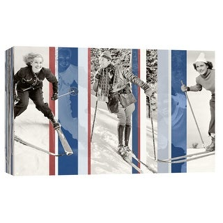 """PTM Images 9-102224  PTM Canvas Collection 8"""" x 10"""" - """"Vintage Skiing"""" Giclee Sports & Hobbies Art Print on Canvas"""