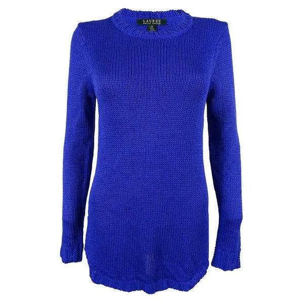 Ralph Lauren Women's Crewneck Tunic Sweater - Free Shipping Today ...