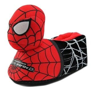 Marvel Heroes Spidey Slipper Toddler Round Toe Synthetic Black Slipper