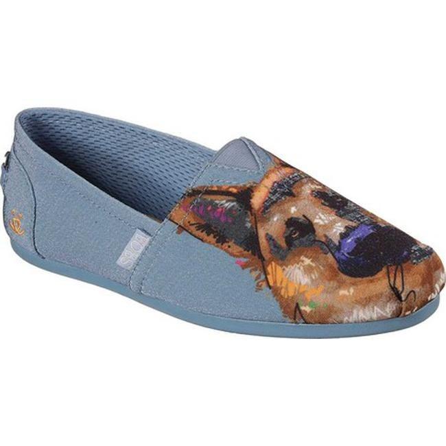 Skechers Women's BOBS Plush Paw Fection Gussie Alpargata Slate