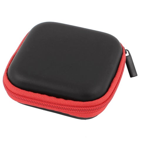 Earphone Cellphone Headphone Headset Earbuds Carrying Case Pouch Storage Red